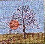 "GOK1032 Thea Gouverneur Kit Tree Spring 4"" x 4"" Jobelan 25ct"
