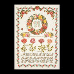 "GOK2043 Thea Gouverneur Kit Rose Sampler  21"" x 30""; Linen; 32ct"