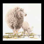"GOK1072 Thea Gouverneur Kit Sheep 6"" x 6"" Linen 36ct"
