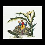 """GOK1042 Thea Gouverneur Kit Turtle 7"""" x 6""""; Linen; 32ct"""