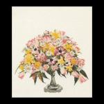"GOK1084 Thea Gouverneur Kit Spring Flowers 20"" x 18"" Linen 32ct"