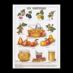 """GOK2081 Thea Gouverneur Kit Fruits 14"""" x 20""""; Linen; 36ct"""