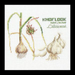 "GOK3043 Thea Gouverneur Kit Garlic 6"" x 6""; Linen; 36ct"