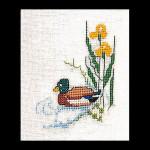 """GOK1039 Thea Gouverneur Kit Mallard Duck  3"""" x 4""""; Linen; 32ct"""