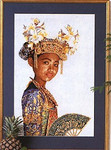 "GOK947 Thea Gouverneur Kit Indonesia Dancer 18"" x 24""; Linen; 25ct"