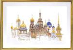 """GOK430 Thea Gouverneur Kit St Petersburg 31"""" x 20""""; Linen; 36ct"""