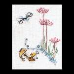 "GOK1038 Thea Gouverneur Kit Sea Bed 3"" x 4"" Linen 32ct"