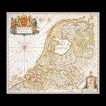 """GOK1073 Thea Gouverneur Kit Dutch Antique Map 52"""" x 36""""; Linen; 36ct"""