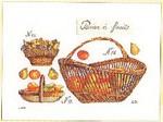 """GOK2099 Thea Gouverneur Kit Fruit Baskets 16"""" x 11-1/2"""" Linen; 36ct"""