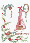 "GOK872 Thea Gouverneur Kit December 9.6"" x 13.6""; Linen; 30ct"