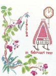"GOK862 Thea Gouverneur Kit February 9.6"" x 13.6""; Linen; 30ct"