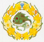 """GOK851 Thea Gouverneur Kit Pisces 11.2"""" x 11.2"""" Linen 30ct"""