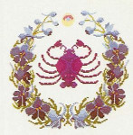 "GOK855 Thea Gouverneur Kit Cancer 11.2"" x 11.2""; Linen; 30ct"
