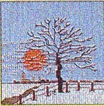 "GOK1035 Thea Gouverneur Kit Tree Winter 4"" x 4"" Jobelan 25ct"