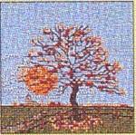 "GOK1034 Thea Gouverneur Kit Tree Fall 4"" x 4"";Jobelan 25ct"