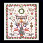 "GOK2077 Thea Gouverneur Kit Christmas Sampler 24"" x 26-1/2""; Linen; 30ct"