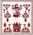 "GOK2068 Thea Gouverneur Kit Sampler - 1767 8"" x 9""; Linen; 36ct"