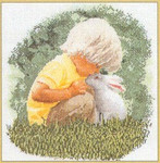 "GOK1046 Thea Gouverneur Kit Little Boy with Bunny 13"" x 13""; Linen; 30c"