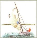 "GOK3091 Thea Gouverneur Kit Sailing 6"" x 6-1/2""; Linen; 36ct"