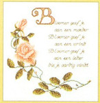 "GOK1060 Thea Gouverneur Kit Pink Rose With Verse 12-1/2"" x 12-1/2""; Linen; 30ct"