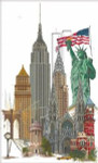 "GOK471 Thea Gouverneur Kit New York 19.5"" x 31""; Linen; 36ct"