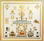 "GOK1082 Thea Gouverneur Kit Sampler - Tree Of Life 22"" x 24""; Linen; 36ct"