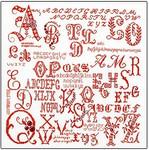 """GOK2093 Thea Gouverneur Kit Sampler Letters 13-1/2"""" x 13-1/2""""; Linen; 36ct"""