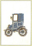 "GOK1055 Thea Gouverneur Kit Antique Car 4-1/2"" x 6""; Linen; 30ct"