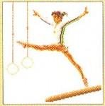 "GOK3038 Thea Gouverneur Kit Gymnast 6-1/2"" x 7""; Linen; 36ct"