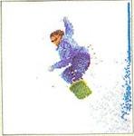 "GOK3055 Thea Gouverneur Kit Snowboarding 6"" x 6-1/2""; Linen; 36c"