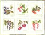 """GOK2091 Thea Gouverneur Kit Six Berries 12-1/2"""" x 10""""; Linen; 30ct"""