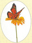 "GOK1023 Thea Gouverneur Kit Monarch Butterfly 9-1/2"" x 13""; Linen; 30ct"