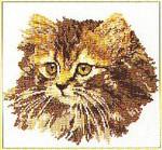 """GOK930 Thea Gouverneur Kit Cat 12"""" x 16""""; Linen; 25ct"""