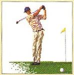 "GOK3032 Thea Gouverneur Kit Golfer 6-1/2"" x 7""; Linen; 36ct"