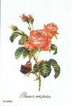 """GOK2030 Thea Gouverneur Kit Roses 10"""" x 15""""; Linen; 36ct"""