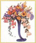 """GOK1086 Thea Gouverneur Kit Elegant Cut Flowers 15-1/2"""" x 23""""; Linen; 30ct"""