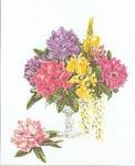 """GOK1074 Thea Gouverneur Kit Cut Flowers 23"""" x 27""""; Linen; 30ct"""