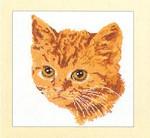 "GOK931 Thea Gouverneur Kit Tiger Cat 12"" x 16""; Linen; 25ct"