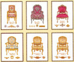 "GOK3068 Thea Gouverneur Kit Six Chairs 5"" x 7""; Linen; 36ct"