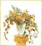 """GOK1083 Thea Gouverneur Kit Golden Bouquet 21"""" x 22""""; Linen; 30ct"""