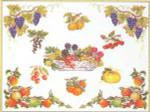 """GOK2019 Thea Gouverneur Kit Fruit 22"""" x 18""""; Linen; 30ct"""