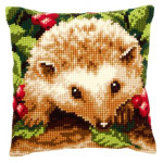 "PNV146403 Vervaco Kit Hedgehog with Berries Pillow 16"" x 16""; Canvas"