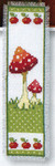 "PNV147507 Vervaco Kit Toadstools I Bookmark 2.4"" x 8""; Aida; 14ct"