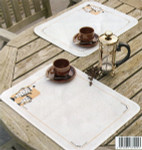 "PNV147512 Vervaco Kit Tea and Coffee  (set of 2) 13"" x 17""; Plastic Canvas; 14ct"