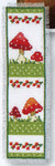 "PNV147508 Vervaco Kit Toadstools II Bookmark 2.4"" x 8""; Aida; 14ct"