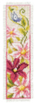 "PNV148355 Vervaco Kit Pink Flowers 2"" x 8""; Aida; 14ct"