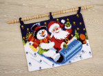 """PNV145277 Vervaco Kit In a Sleigh  21"""" x 16""""; Canvas; 18ct"""