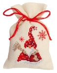 "PNV144319 Vervaco Kit Santa with a Scarf 3"" x 5""; Aida; 18ct"