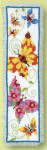 "PNV21728 Vervaco Kit Butterflies Flapping II Bookmark 2.4"" x 8""; Aida; 14ct"