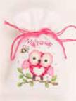 "PNV144375 Vervaco Kit Pink Owl Sachet 3.2"" x 4.8""; Aida; 18ct"